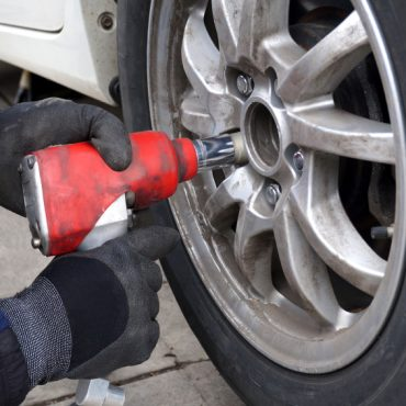 Using Impact Wrench to Change Tires