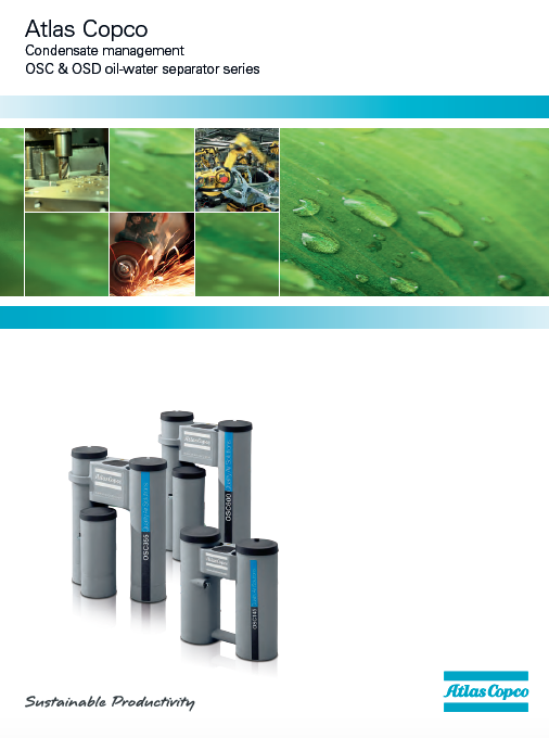 Condensate management OSC & OSD oil-water separator series