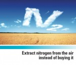 Extract nitrogen from the air instead of buying it