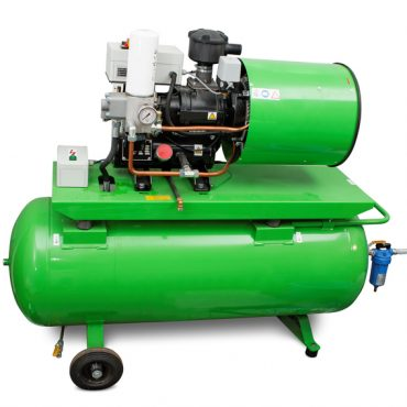 Modern industrial screw-type air compressor