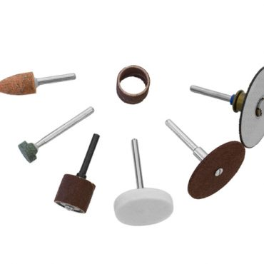 Rotary tools - Scattered bits isolated on white background